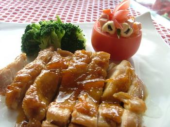 鶏肉のマーマレード焼き 003.JPG